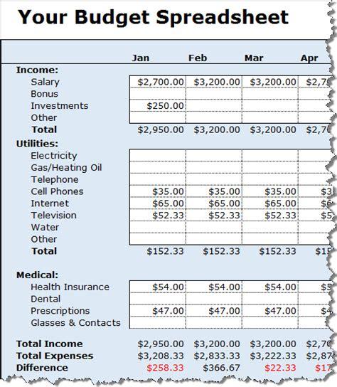 track  money    budget spreadsheet