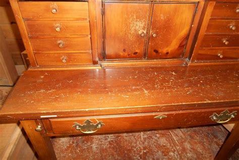 antique writing desk refinish project capital district