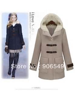 Long Wool Hooded Pea Coat Women