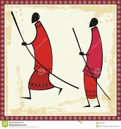 African Masai Warriors Illustrations Illustration Africa