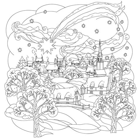 town  winter  mashabr christmas coloring