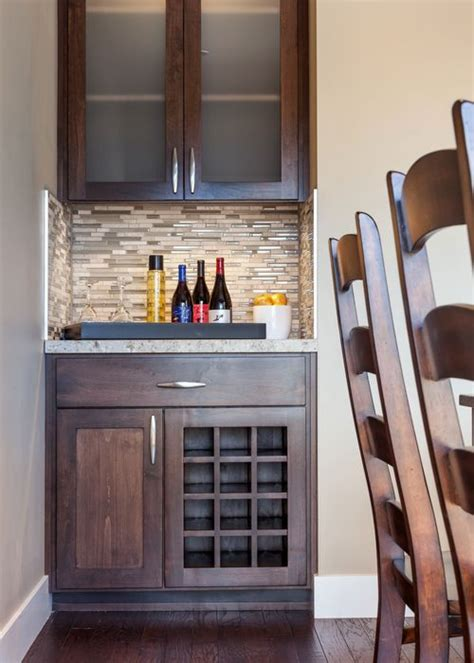 Small Wine Bar Ideas by Bar And Wine Storage In Custom Designbuild Residence