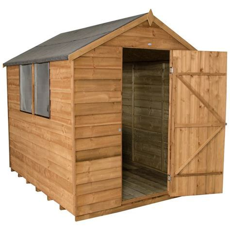 Buy Forest 8 x 6ft Overlap Wooden Apex Shed   Sheds   Argos