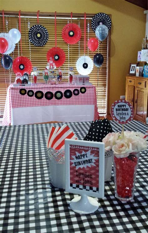 1950's Rock And Roll Birthday Party Ideas  Photo 3 Of 8