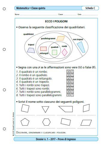 Prove Ingresso Matematica Prima Media Prove D Ingresso Matematica Classe 5 La Vita Scolastica
