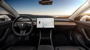 Tesla Model 3 Interior Dash- Head On - The Green Car Guy
