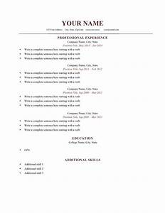 How should be the resume format for How should a resume be formatted