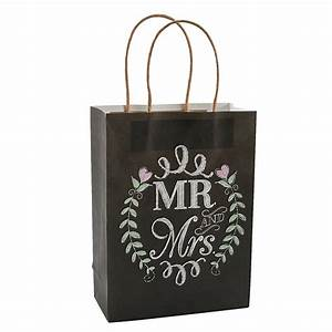 12 x mr and mrs chalkboard wedding gift bags With gift bags for weddings