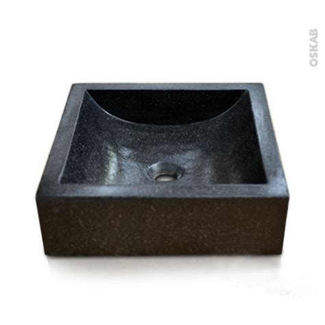 vasque noir a poser vasque salle de bains ludwig a poser terrazzo noir carr 233 e oskab