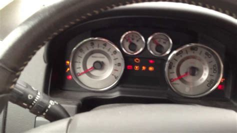 ford fusion warning lights 2008 ford edge powertrain problem youtube