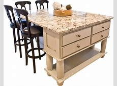 portable kitchen island with seating for 4 For the Home