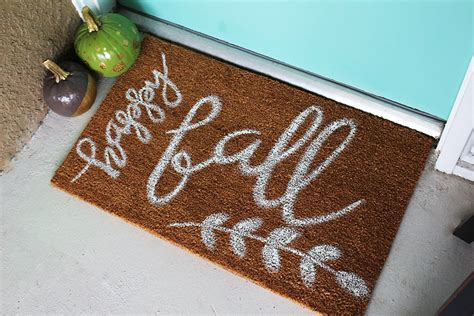 Autumn Doormat by Diy Painted Fall Doormat Within The Grove