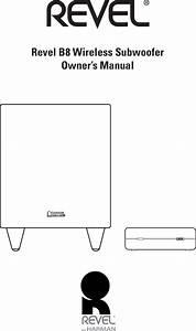 Harman Revelb8sub Transmitter Box User Manual B8 T Userman