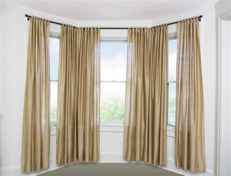 curtains for window on door curtain rods for bay windows homesfeed