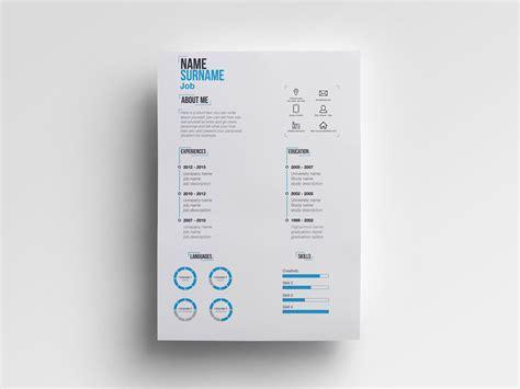 minimal ai free minimalist resume template in