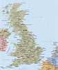 Map of Great Britain showing towns and cities - Map of ...