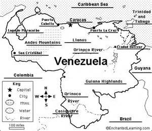 Venezuela Map Coloring Page
