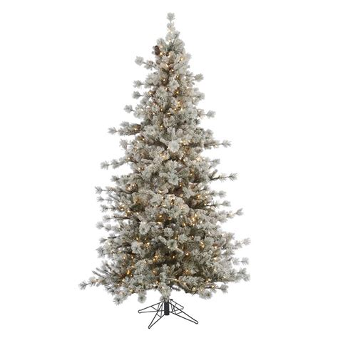 vickerman a131566 flocked anchorage pine christmas tree