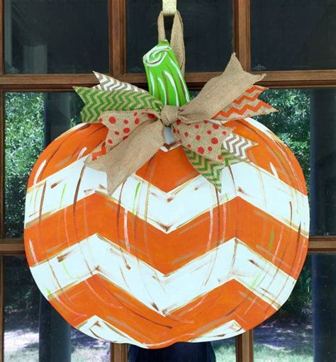 pumpkin door hanger pumpkin wooden door hanger painted by