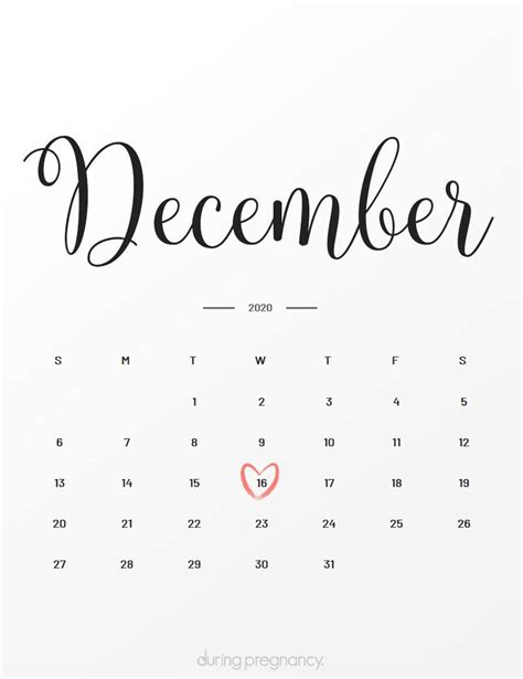 Due Date: December 16 2020 During Pregnancy