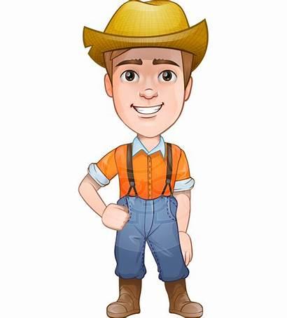 Farmer Cartoon Vector Agriculture Clothes Tractor Cartoons