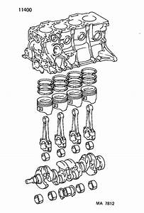 Toyota Paseo Engine Short Block  Assembly