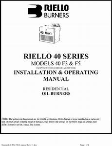 Riello Burner  Furnace Manual L0805012