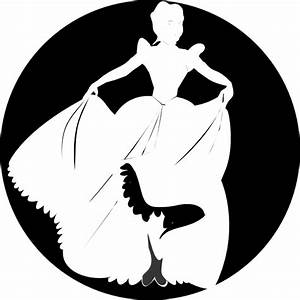White Princess Silhouette In Black Background Clip Art at ...