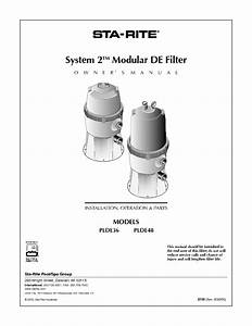Modular De Filter Plde36 Manuals
