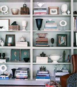 Anyone can decorate bookshelves not just for books for How to decorate bookshelves