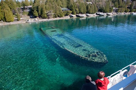 Lake Ontario Boat Tours by The Sweepstakes Shipwreck Tobermory Boat Tours