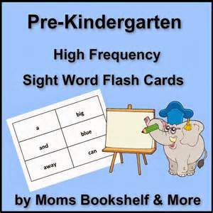pre kindergarten sight word flash cards minnesota miranda