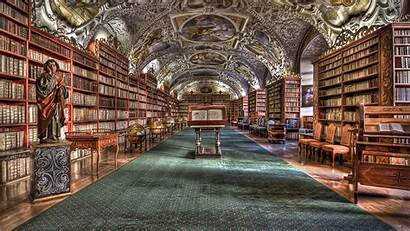 Library Wallpapers Pixelstalk Screen Monastery Czech