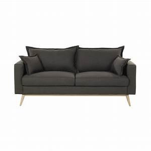 3 Sitzer Sofa : sofa 3 sitzer aus stoff graubraun duke maisons du monde ~ Frokenaadalensverden.com Haus und Dekorationen
