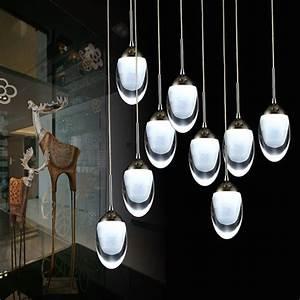 Lustre Pour Salon : moderne led lustre lumi res acrylique led pendentif ~ Premium-room.com Idées de Décoration