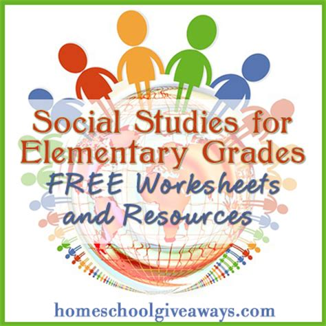 Free Social Studies Worksheets And Resources  Free Homeschool Deals