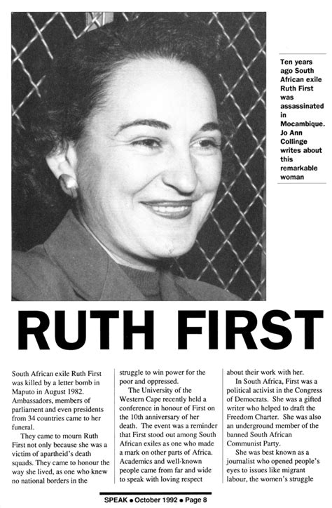 ruth  timeline   south african history