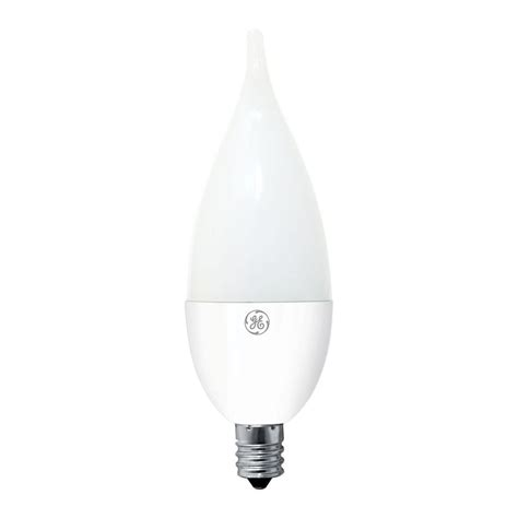 ge 40w equivalent soft white ca11 bent tip candelabra base