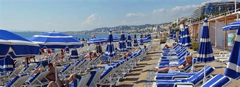 Blue Chairs Nice France Cote D Azur Stock Images