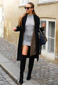 How To Wear Over The Knee Boots In Fall 1 Pinterest