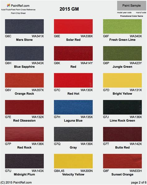 2015 chevy truck colors paint chips 2015 gm cadillac