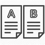 Test Testing Comparing Method Icon Documents Split