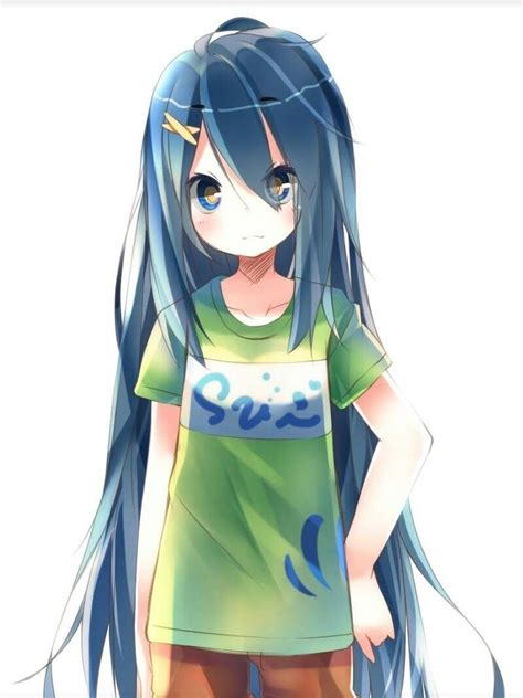 anime girl  blue hair anime   pinterest