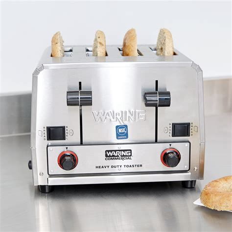 waring 4 slice commercial toaster waring wct850 heavy duty commercial combination switchable
