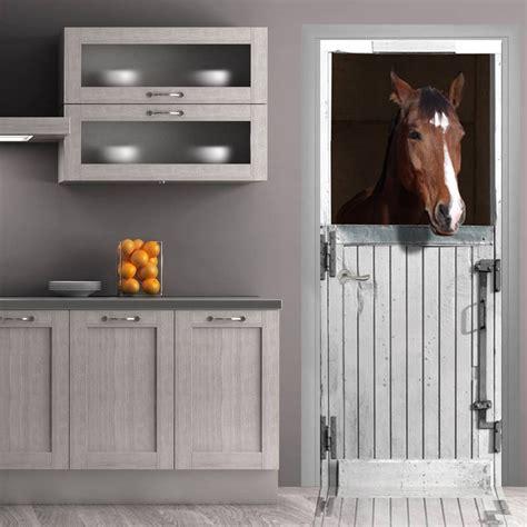 fournisseur bureau stickers de porte quot box blanc pour cheval quot trompe l 39 oeil