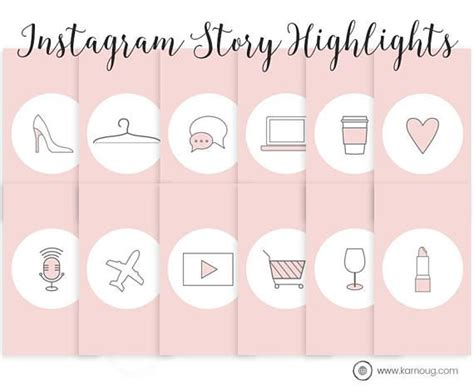 instagram story highlights icons set   instagram icons