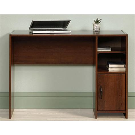 prepac floating composite wood desk with storage and