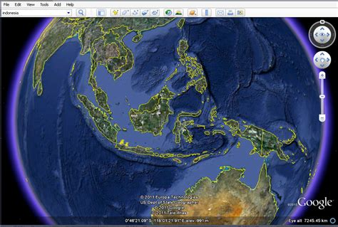 indonesia map google earth