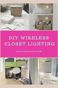 Closet Lighting Ideas Without Wiring  U2013 Chatfield Court In