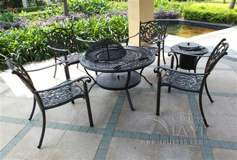 6 Piece Best Selling Cast Aluminum Table And Chair Outdoor